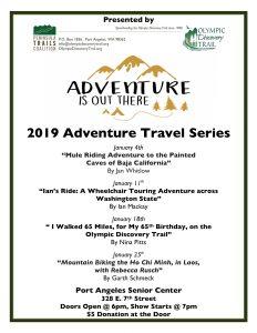 Adventure Travel Series – Nina Pitts @ Port Angeles Senior Center
